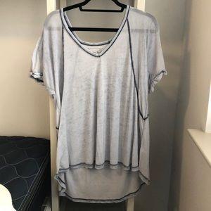 Blue/ Grey Free People shirt